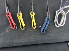 Rock Climbing Photo: hand sizes slings