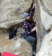 Rock Climbing Photo: Pulling tendons