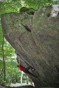 Rock Climbing Photo: True Grit (V5), Grayson Highlands State Park VA