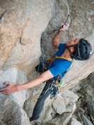 Rock Climbing Photo: Spencer getting some gear before beginning the har...