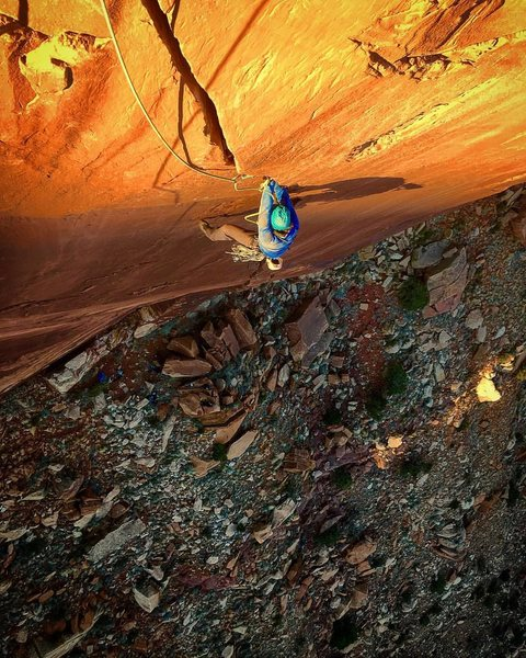 It goes to the top...Super fun adventure, Monstrous single pitch! 175'  Reminiscent of Crack Attack, just better.<br> <br> Add #1,#2 3x#3 to your sending rack..No grade change still 12-