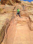 Rock Climbing Photo: Sending.