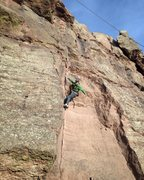 Rock Climbing Photo: On the lieback.