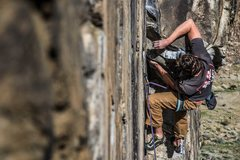 Rock Climbing Photo: Rick Ziegler on Rainbow Drive