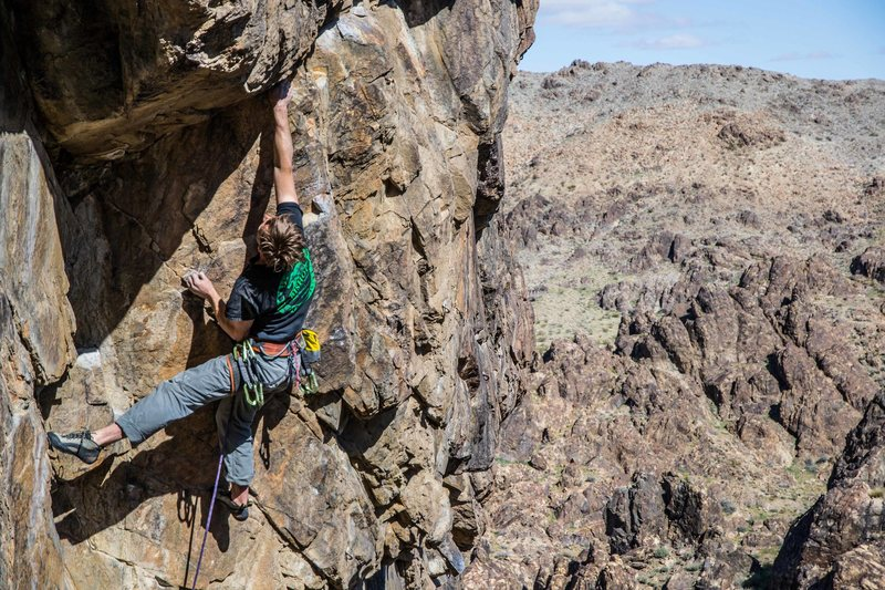 Rock Climbing Photo: Trevor Hobbs working the Sex Deviant