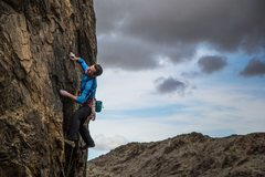 Rock Climbing Photo: Steve Cox onsighting