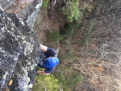 Solo TR back up. Easy routes for soloing or great for beginners on belay