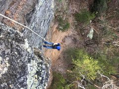Rappelling down for Solo TR runs. Great place to practice multiple pitches if you're climbing alone.