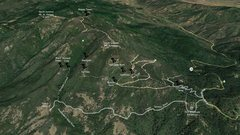 Rock Climbing Photo: Mt. St. Helena Overview showing Kimball Canyon loc...