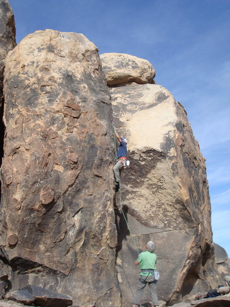 Rock Climbing Photo: John Bald about to launch into the crux moves at t...