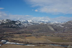 Rock Climbing Photo: View west across the lazy Okanogan towards the Pas...