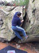 Rock Climbing Photo: Luis on Simple Knees.