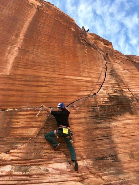 Rock Climbing Photo: Good times. Dickson following.