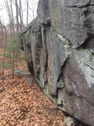 Rock Climbing Photo: Nells Pond 12 - Mother. Close up of east face.