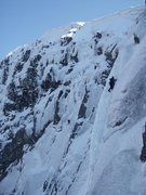 Rock Climbing Photo: Climbing Smith's Route V,5 on Ben Nevis.