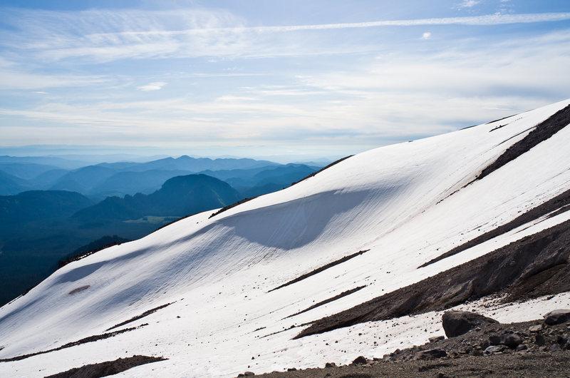 Sample - skiing on St Helens