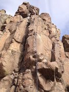 Rock Climbing Photo: The route, shown by the rope.