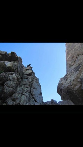 Rock Climbing Photo: Easy 5th to the summit of Tiger Tower. En route to...