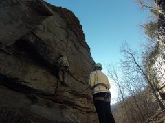 Rock Climbing Photo: up the breach