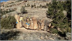 Rock Climbing Photo: Essential west face problems:  1. Strung Out On Na...