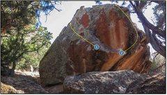 Rock Climbing Photo: 2. Yotes Below.