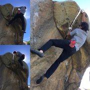 Rock Climbing Photo: Roof crux