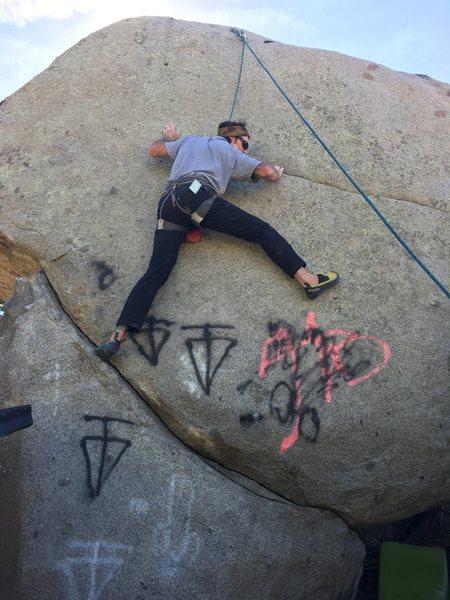 Rock Climbing Photo: Parking lot boulder