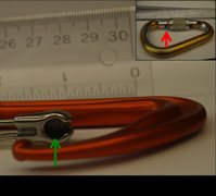 Rock Climbing Photo: Fig 5. Dyon Review. Receiver pocket of Dyon (green...