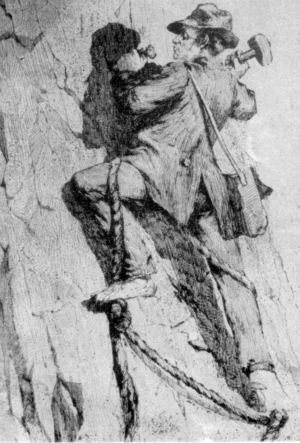 George Anderson First Ascent Half Dome, 1875.