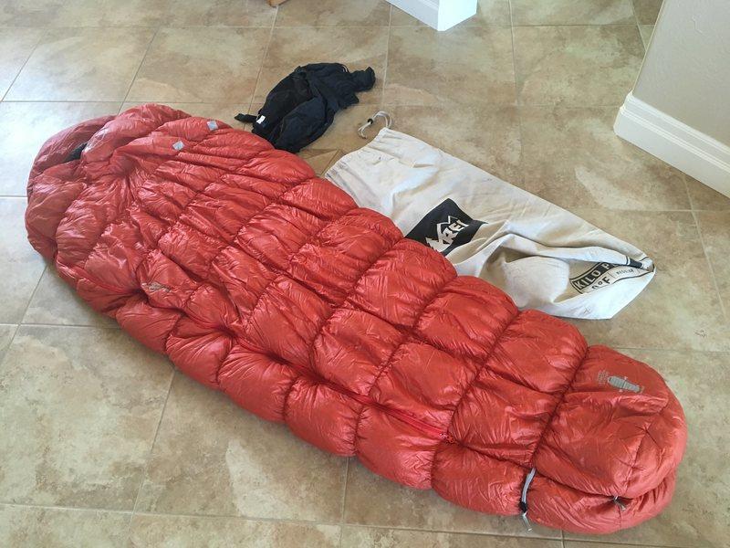 Rock Climbing Photo: sleeping bag, stuff sack, storage sack