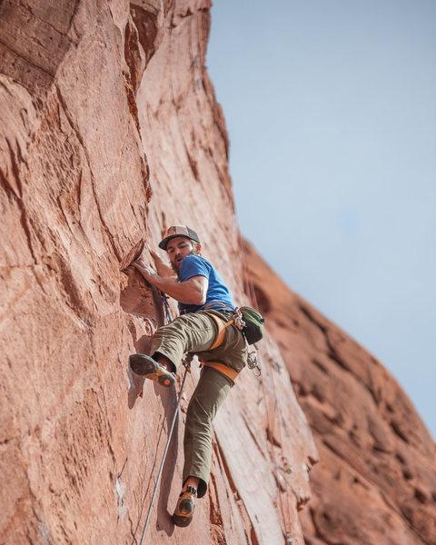 Rock Climbing Photo: Climber: Aaron Townsley Photo: Ryan Borys