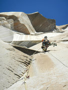 Rock Climbing Photo: The crux pitch of Genesis