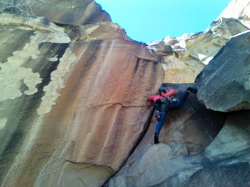 Last pitch hand crack / layback, lots of fun.  Much less intimidating than it first might seem.