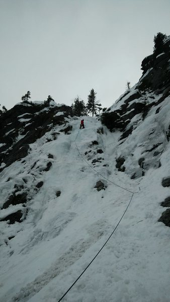Rock Climbing Photo: Pitch 1 of Left route at Hubba Hubba (early Mar 20...