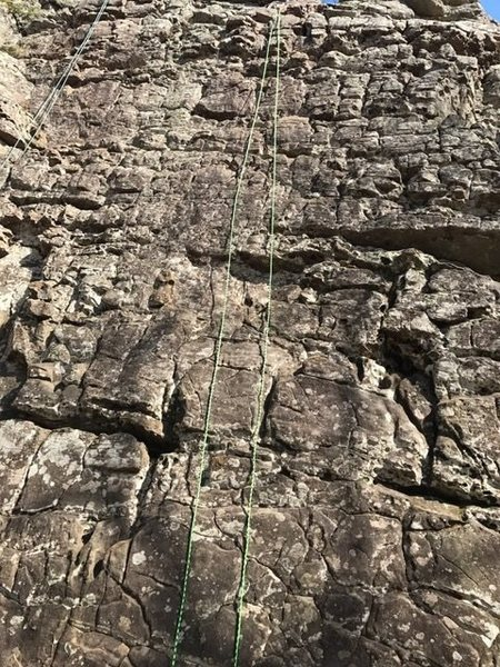 Rock Climbing Photo: E Kat 5.6 good as a warm-up or as a beginning lead...