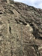Rock Climbing Photo: Another one and done. Only slightly harder than E ...