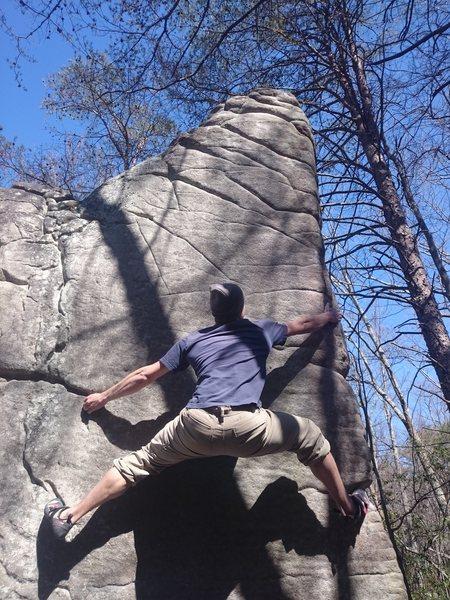 Dan B. Heading up the face
