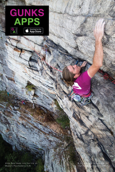 Rock Climbing Photo: Gunks Apps Modern Psychedelic