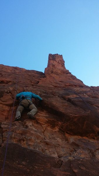 Rock Climbing Photo: One Eyed Willy(right), Adventures in Babysitting(l...