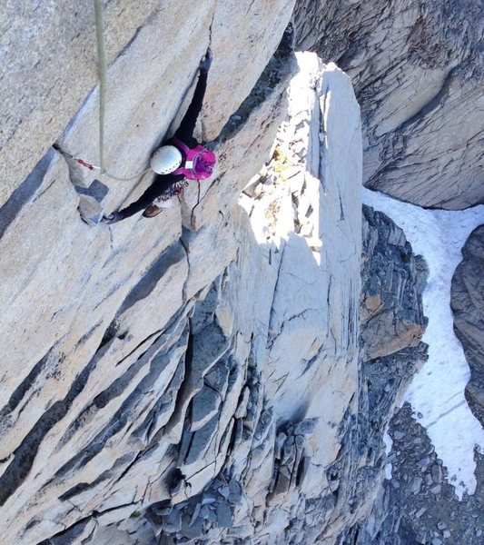 Rock Climbing Photo: High on the 3rd Pillar of Dana