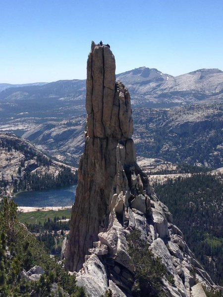 Eichorn pinnacle... that&@POUND@39@SEMICOLON@s us after topping out on the West pillar direct III 5.10 4pitches
