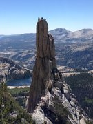 Eichorn pinnacle... that's us after topping out on the West pillar direct III 5.10 4pitches