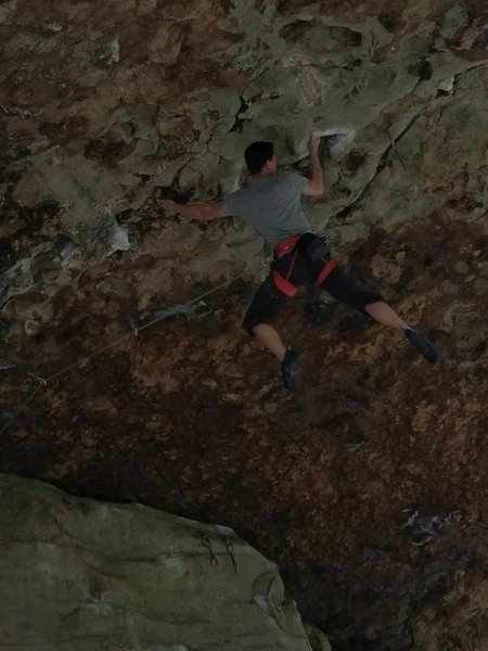 Erik Kloeker on Maximum Overdrive, 5.13a, The Obed, TN.