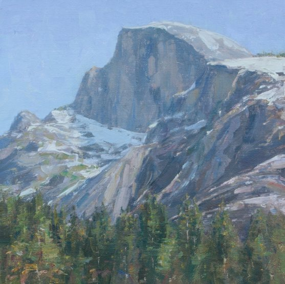 Rock Climbing Photo: Half Dome painting I painted in oil paint. Looking...