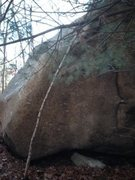 Rock Climbing Photo: Mayhem Boulder showing the problem Morning has Bro...