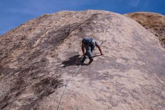 Rock Climbing Photo: Foot work up the slab
