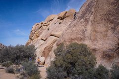 Rock Climbing Photo: Swing Slow as viewed from the east of the route - ...