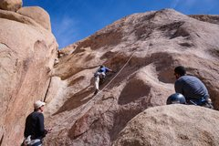 Rock Climbing Photo: Rerouting up RAF - draws on Swing Low to the right...