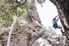 Rock Climbing Photo: The tougher start of the route.