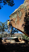 Rock Climbing Photo: Working my way up one of the finest problems in Un...